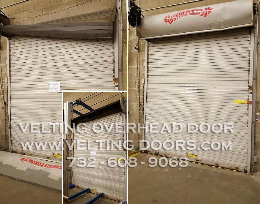 Dock door repair with cushion and leveler g