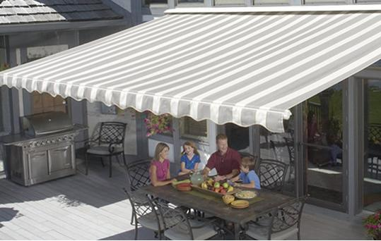 Top Of The Line Lateral Arm Style Awnings These Elegant Electric Powered Open And Close Effortlessly At One Touch A Remote Control