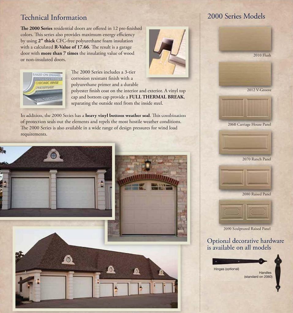 Haas Garage Doors Model 2000 Highly Insulated Garage Doors